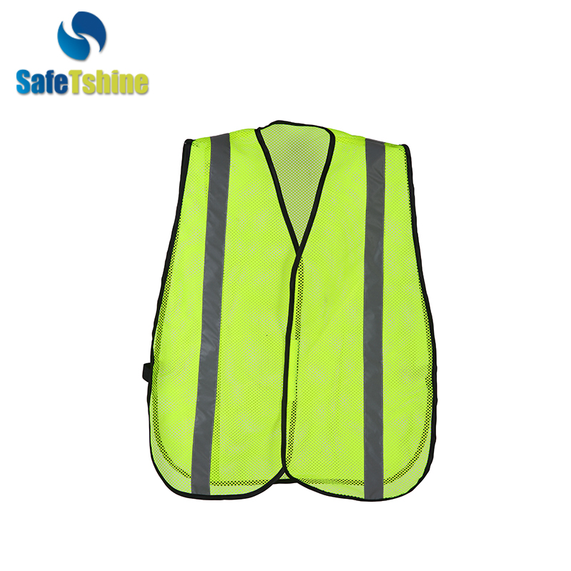 high visibility yellow vest mesh new style