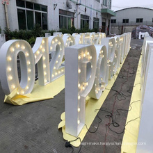 Outdoor LED  Light Up Letter Bulb Letters 3D  lights Signage Channel Marquee Letters