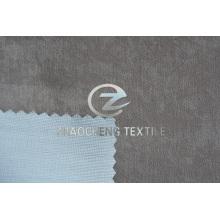 Imitación de gamuza unida con tejido de punto para ropa y cortinas