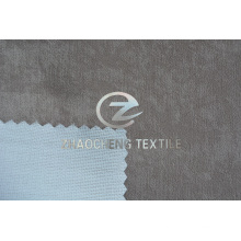 Imitation Suede Bonded with Knitting Fabric for Clothes and Curtain
