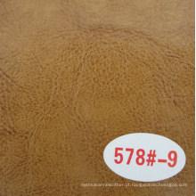 Couro de imitação da vaca da alta qualidade / couro de cavalo louco (R64)