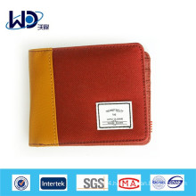 Red polyester material canvas wallet