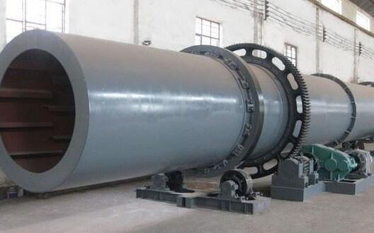 Rotary dryer for fertilizers