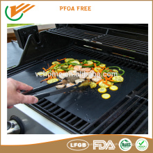 FDA,LFGB,ROHS approval grill mat custome size baking mat ptfe coated baking mat