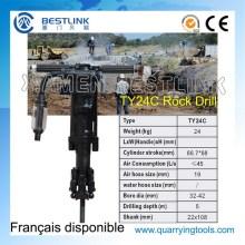 Ty24c mão segure Vertical máquina de perfuração da rocha Pneumtatic