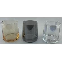 Tasse en verre de whisky de placage avec gris fumé