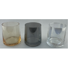 Plating Whisky Glass  Cup With Smoky Gray
