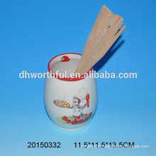 2016 New design ceramic kitchen utensil holder