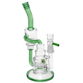Glass Recycler Bubbler Water Pipes with Two Tube Recycle Chamber (ES-GB-369)