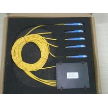 Splitter optique fusionné 1 * 4 avec connecteur SC / PC