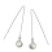 Pendientes de perlas de concha de alta calidad de plata de ley 925 de moda de mujer