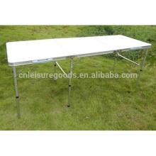 Table de pique-nique pliante de jardin extérieur en aluminium