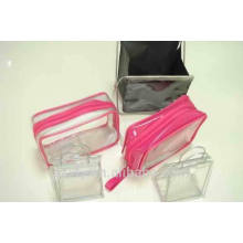Clear plastic bag with zipper lock seal