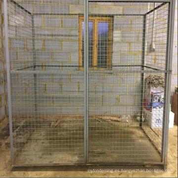 jaula de almacenamiento de animales de la jaula de gas de la jaula de seguridad industrial grande resistente