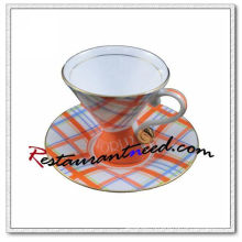 B128 200мл ями округлый косой чай чашки и блюдца 5 комплектов