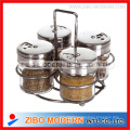 Condiment Set with Metal Lid