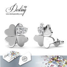 Destiny Jewellery Crystals From Swarovski Clover Earrings