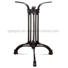 Cast Iron Table Base with Stripe Lines for Restaurant Table Top (SP-MTL197)
