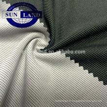 Tissu interlock charbon de bois en polyester et bambou 100% fonctionnel pour vêtements de sport