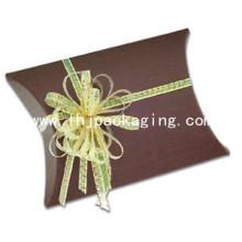 Caja de almohada de Navidad Caja de almohada de papel de embalaje de Navidad de lujo