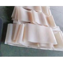 White transparent silicone conveyor belt