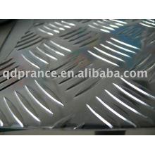 Plaque de roulement en aluminium cinq barres
