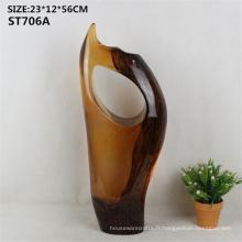 Gris haut de gamme public décoratif statue abstrait verre artificiel unique, brillant, figurine