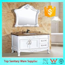 Meuble-lavabo de salle de bains de 45 pouces, vanité de salle de bains avec la porte de PVC