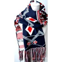 Châle en acrylique tricoté (12-BR201812-17)