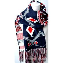 Acrylic Knitted Shawl (12-BR201812-17)