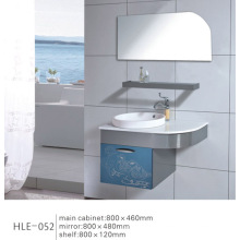 Parede colorida de estilo moderno montada com gabinete de aço inoxidável de prateleira