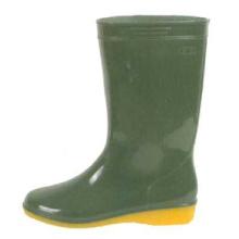 Olive Green Women's Pvc Rain Boots