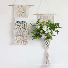 Fabric and Macrame Wall Hanging