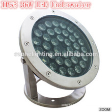 Best Quality IP65 waterproof 36w tempered glass led underwater light led swimming light with SAA listed