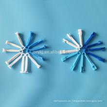 Abrazadera médica de plástico desechable del cordón umbilical del PE del ABS