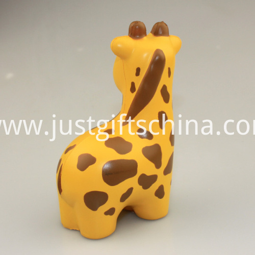 Custom PU Giraffe Shaped Stress Ball, 10