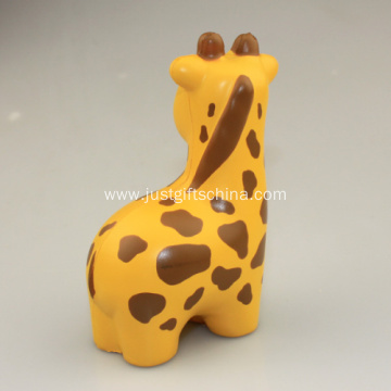 Custom PU Giraffe Shaped Stress Ball, 10.7CM