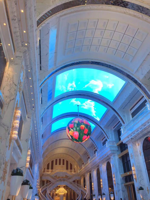Ball shape LED display