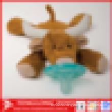 Детская игрушка соска плюшевого медведя
