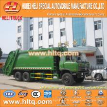 DONGFENG 6x4 16/20 m3 camion compacteur à ordures lourdes moteur diesel 210hp avec mécanisme de pressage