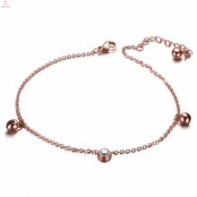 Populaire Nouveau Design Rose Or Bijoux Jingle Bell Bracelet Chaîne De Cheville