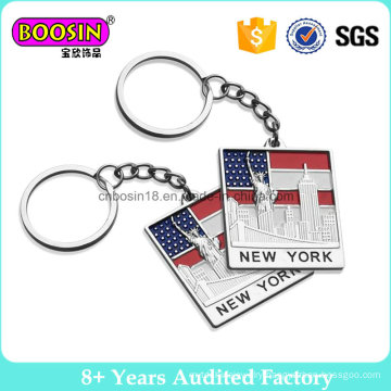 Promotion Souvenir Gift Custom Country Flag Metal Keychain Keyring #B301