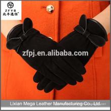 Guantes de mano de cuero de gamuza de trabajo de alta calidad de precio bajo al por mayor