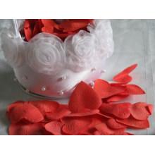 Material de seda pétala de rosa de casamento falsificado