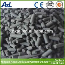 pellet a base de carbón activo de carbono 4 mm para agua de rienda limpia