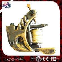 Traditionelle Messing handgefertigte Shader Tattoo Maschine, 8 Wraps Kupfer Draht Spulen Tattoo Pistole