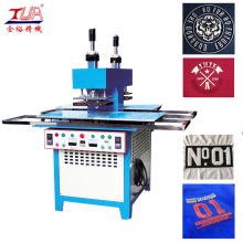 Manual Silicone Trademarks Pressing Machine on Garment