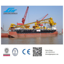 Transfer platform with bulk handling and lifting machine