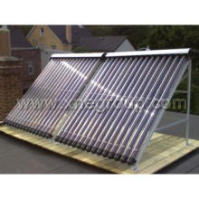 Plastic ring solar pool heater
