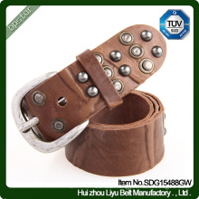 Leather Belt Lady Female Vintage Rivets Dress Strap Cintos de couro Skinny Fashion Women Italian Cowhide
